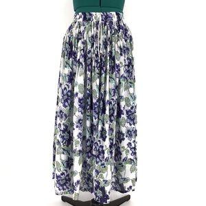 Papa Vancouver Boho Style Ankle Length Skirt, OS